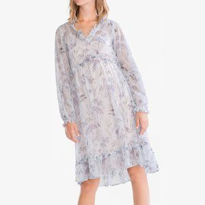 Dresses & Skirts - Blue Airy Flowy Floral Ruffle Dress from Europe